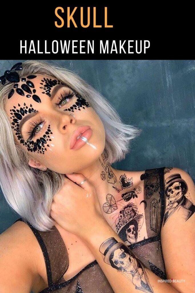 diamond skull makeup