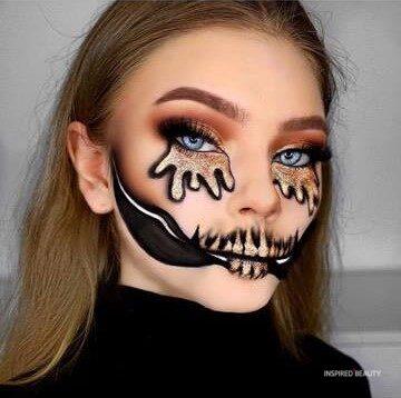 skull makeup for your next Halloween