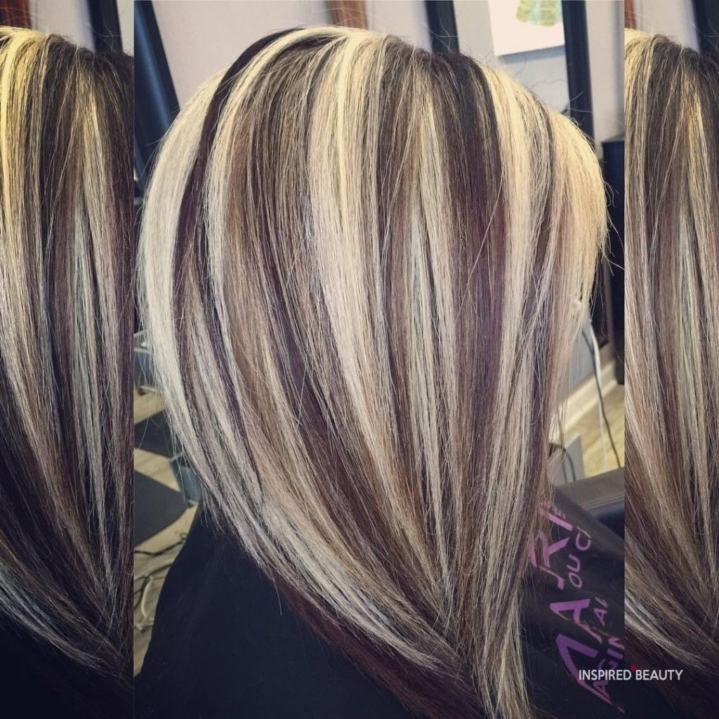 Blonde Hair Color with Dark Highlights