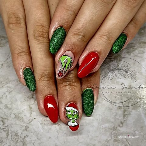 30 sparkle christmas nails designs  inspired beauty