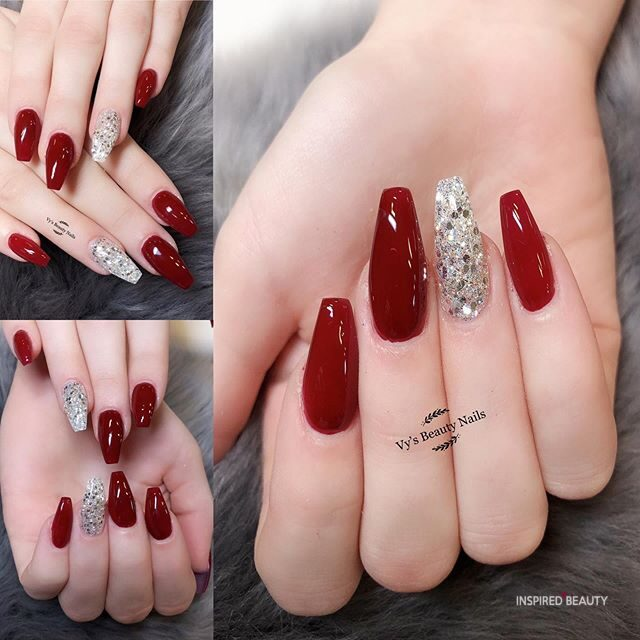30 Sparkle Christmas nails designs , Inspired Beauty