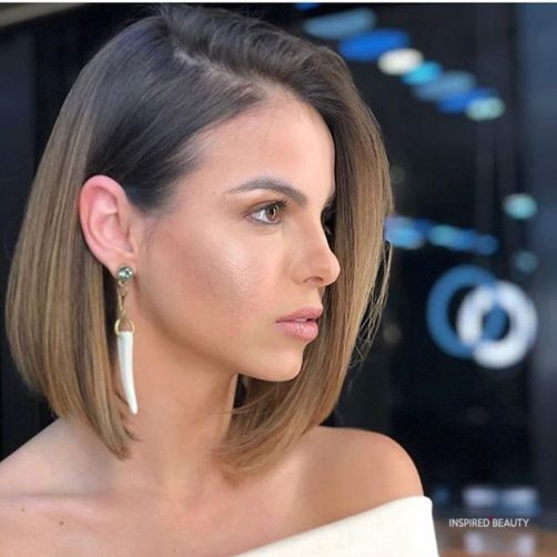 Medium length bob hairstyle for woman