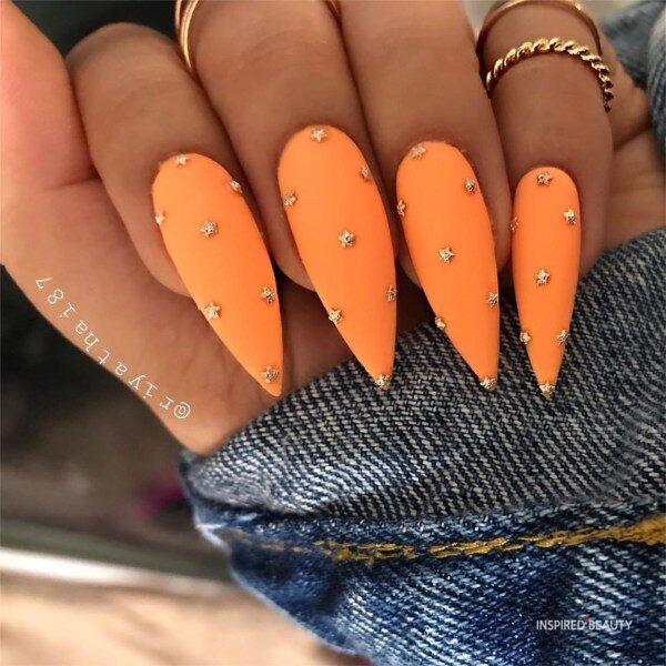 Long Nails With Rhinestones