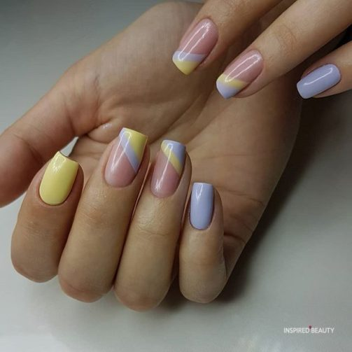 Pink Pastel Nails Coffin