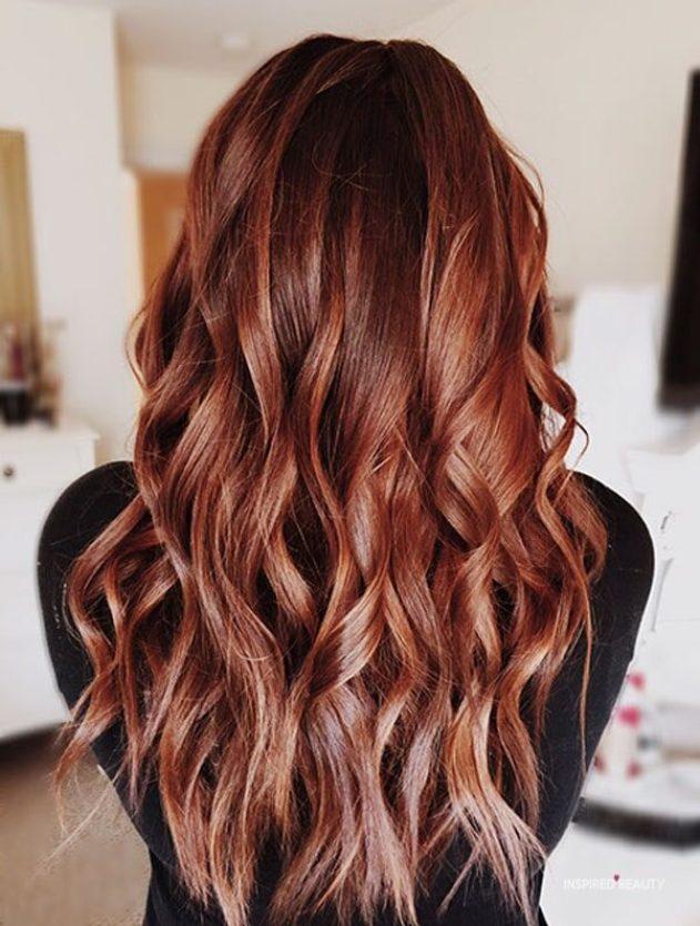 Pretty long red hair