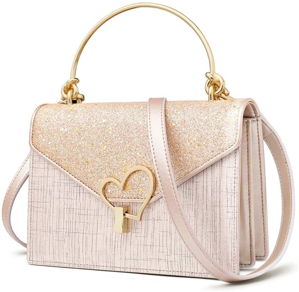 pink an gold Dior designer bag