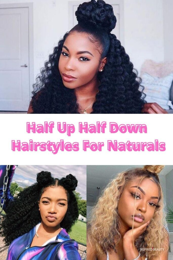 half up half down hairstyles for black hair