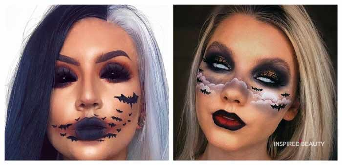 BAT MAKEUP FOR HALLOWEEN