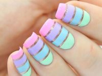 multi color nail art