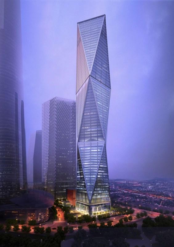 Діагональний хмарочос у Сеулі