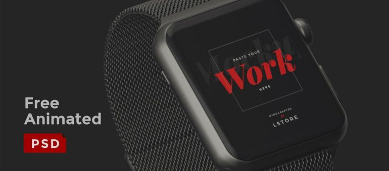 Mockup Animado Gratis de Apple Watch