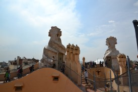 The roof of La Pedrera. Once again, style meets function