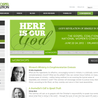 "Ministry event's ""spot color"" web design"