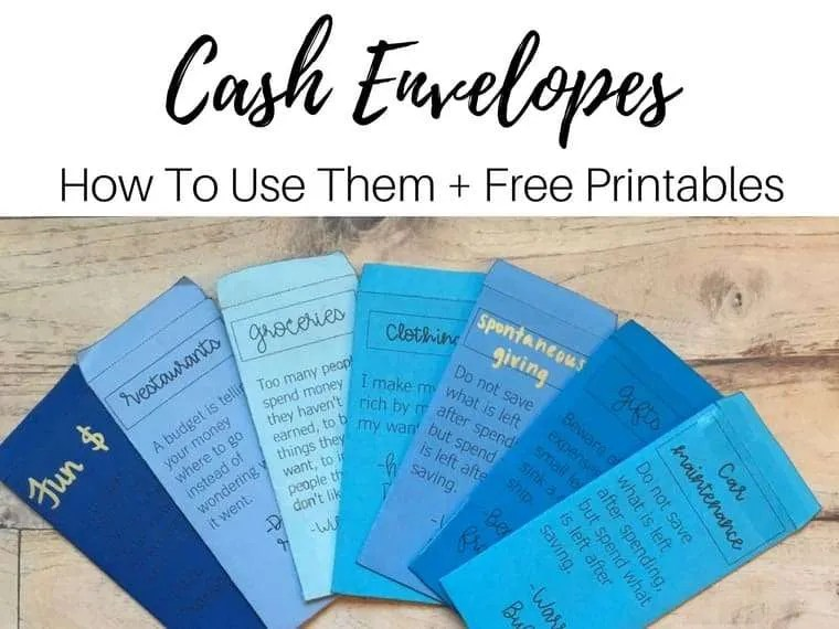 picture relating to Free Printable Cash Envelopes identify How In the direction of Retain the services of The Funds Envelope Process - Encouraged Funds