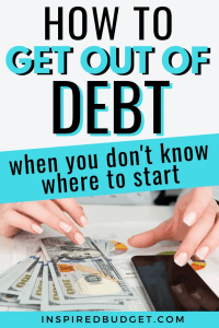 Debt Snowball by InspiredBudget.com