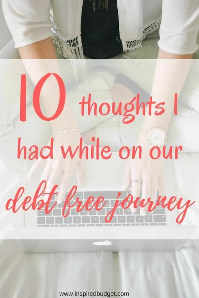 thoughts while paying off debt