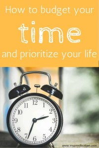 Budget Your Time: Setting Priorities