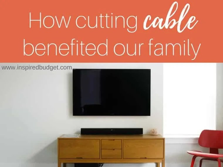 cutting cable to save money by inspiredbudget.com