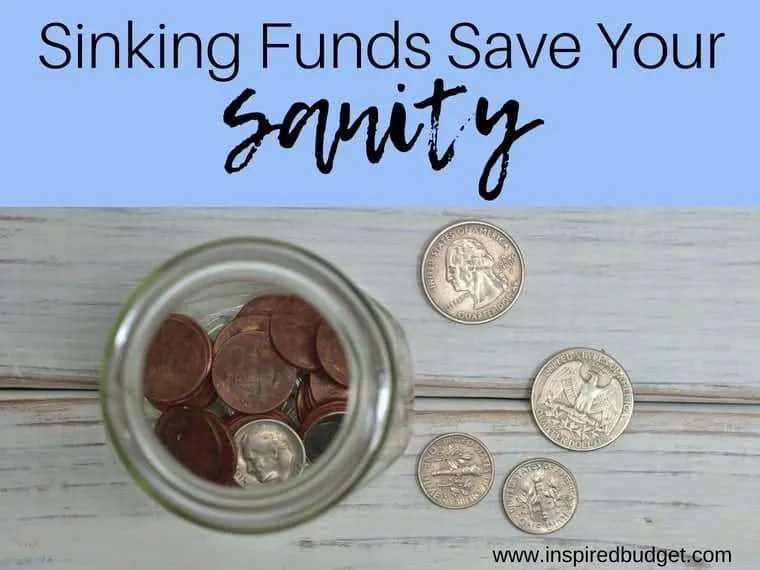 how to set up sinking funds by inspiredbudget.com