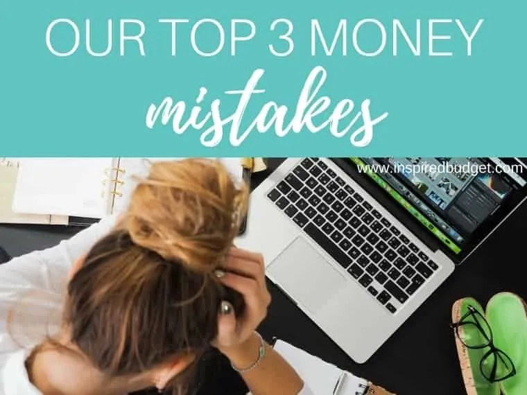 money mistakes by inspiredbudget.com