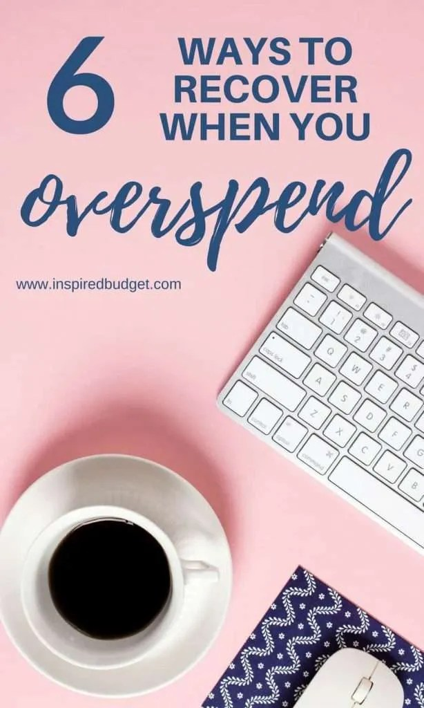 spend too much by www.inspiredbudget.com