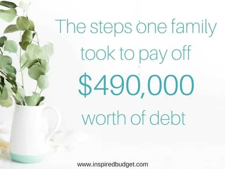 debt free story by www.inspiredbudget.com