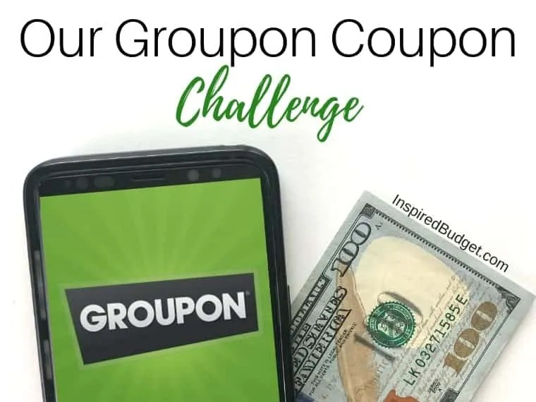 Groupon Coupon Challenge by InspiredBudget.com