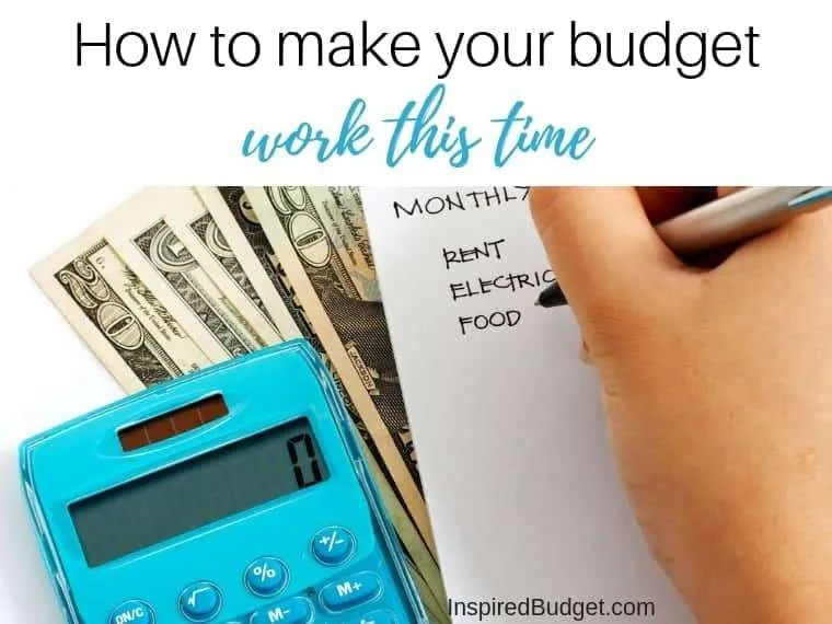 Make Your Budget Work This Time by InspiredBudget.com