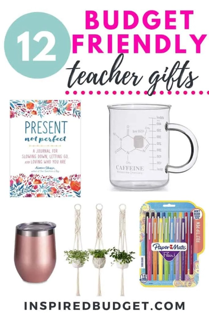 12 Budget Friendly Teacher Appreciation Gifts by InspiredBudget.com