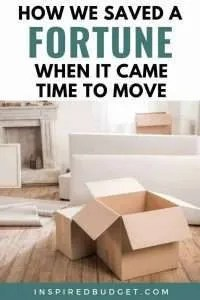 How We Saved A Fortune On Our Move by InspiredBudget.com