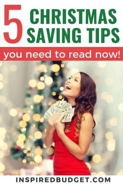 How To Save Money For Christmas by InspiredBudget.com