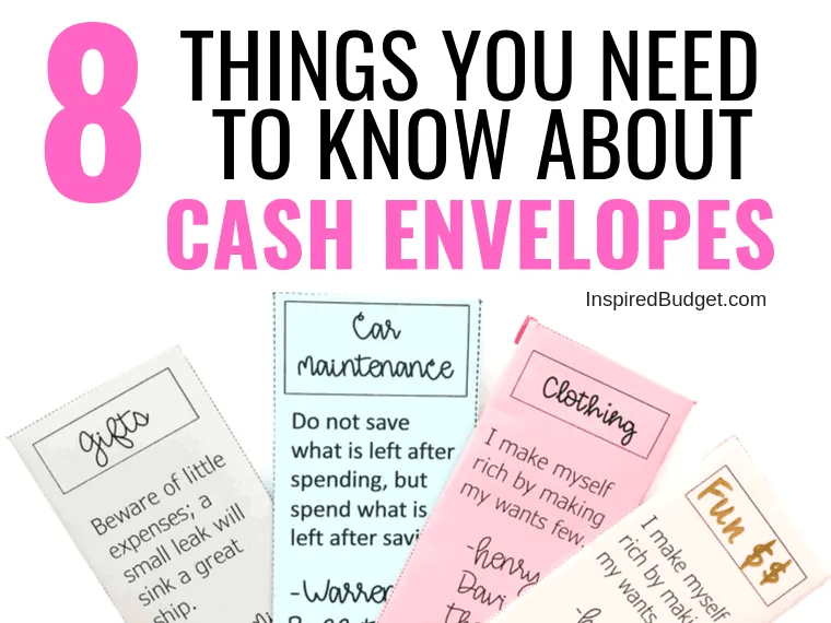 8 Things You Need To Know About Cash Envelopes by InspiredBudget.com