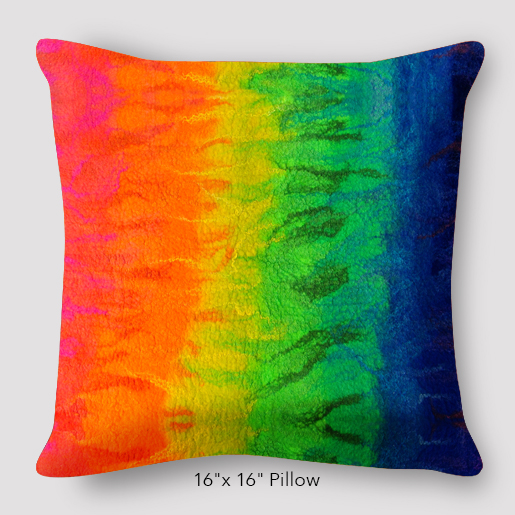 After the Rain Rainbow Pillow by Suzanne OBrien