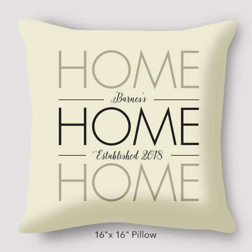 home pillow option to