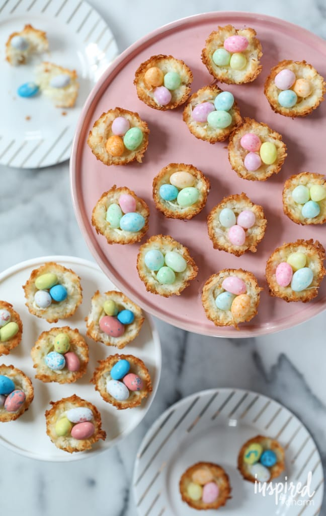 Coconut Macaroon Nests a classic dessert recipe for celebrating spring and Easter   Inspired by Charm