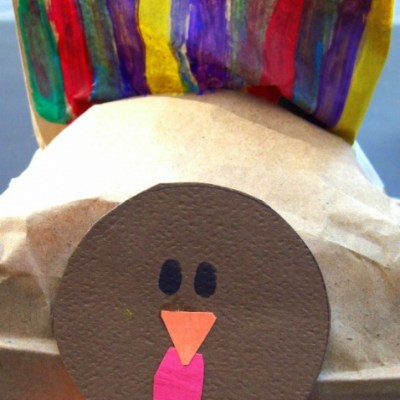 Thanksgiving Turkey Craft and Treat Bag