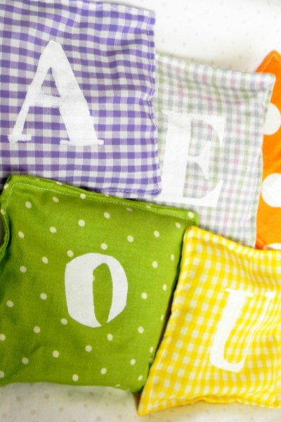 Alphabet Rainbow Bean Bags