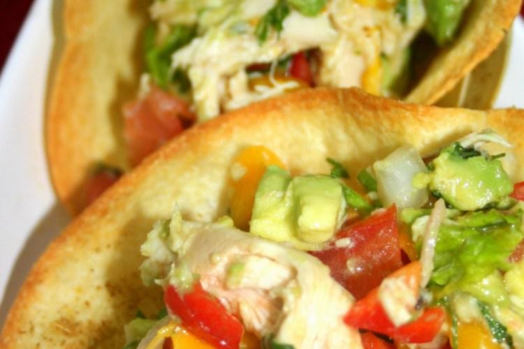 Kid Friendly Around the World Recipe: Tortilla Bowls with Mango Chicken Salad