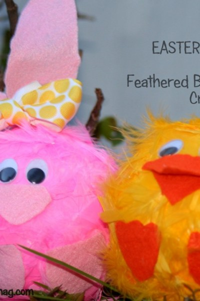 10 min Easter Craft- Feathered Bunny & Chick