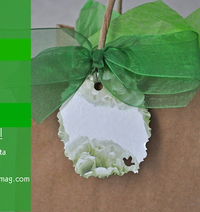 Recycled Craft: From Tissue Box to Gift Tag