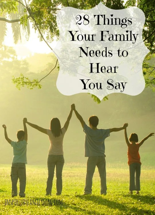 encouraging words for the family