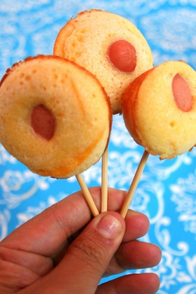 Corn Dog Muffin Pops