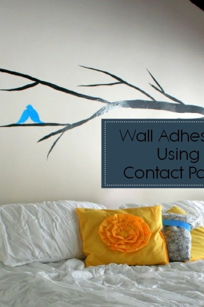 Wall Decals Using Contact Paper
