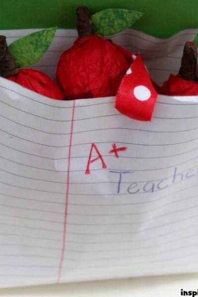 Teacher Gift Idea: Chocolate Apple Treats