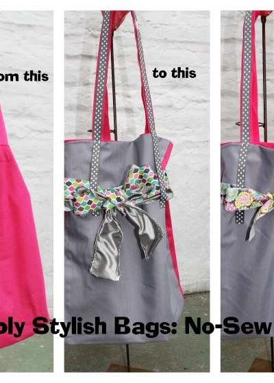 Simply Stylish Bags- DIY No-Sew Tote Bag