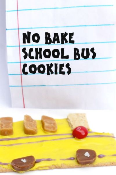 No Bake School Bus Cookies