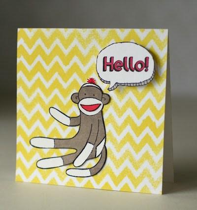 Sock Monkey Card Creations