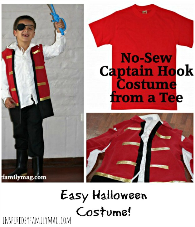How To Make A No Sew Captain Hook Costume From A T Shirt