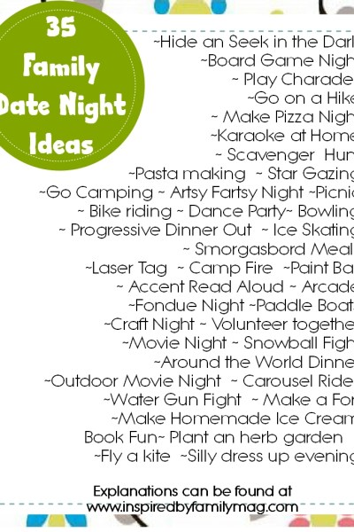 35 Family Date Night Ideas