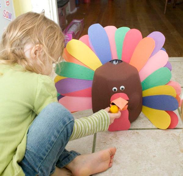 feed the turkey